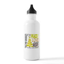 Christmas 1 Testicular Cancer Water Bottle