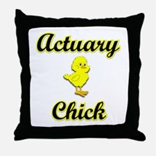 Actuary Chick Throw Pillow