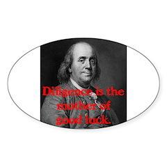 Ben Franklin on Diligence Decal