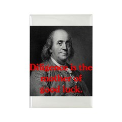 Ben Franklin on Diligence Rectangle Magnet (10 pac