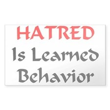 Unlearn Hate Decal