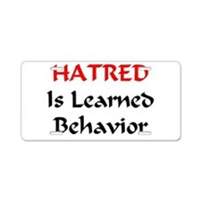 Unlearn Hate Aluminum License Plate