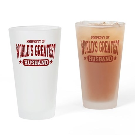 World's Greatest Husband Drinking Glass