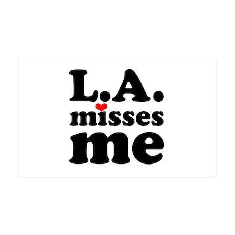 LA Misses Me 38.5 x 24.5 Wall Peel