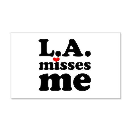 LA Misses Me 22x14 Wall Peel