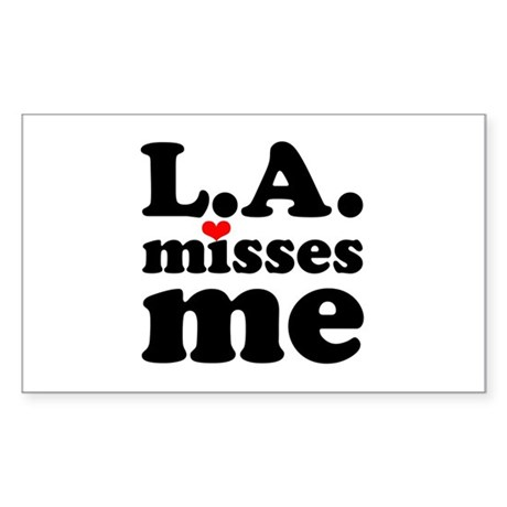 LA Misses Me Sticker (Rectangle)