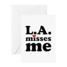 LA Misses Me Greeting Card