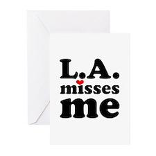 LA Misses Me Greeting Cards (Pk of 10)