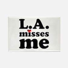 LA Misses Me Rectangle Magnet