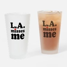 LA Misses Me Drinking Glass