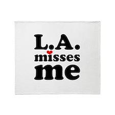 LA Misses Me Throw Blanket