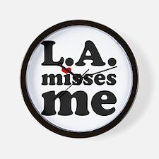 LA Misses Me Wall Clock