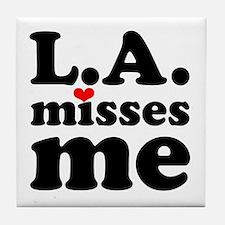 LA Misses Me Tile Coaster