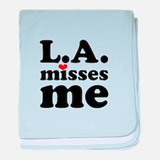 LA Misses Me baby blanket