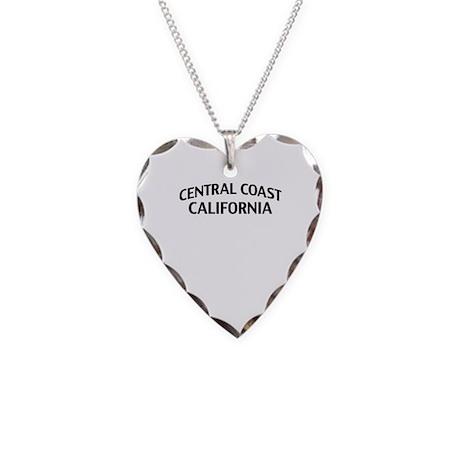Central Coast California Necklace Heart Charm