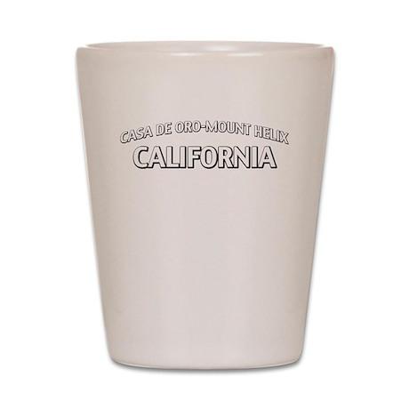 Casa de Oro-Mount Helix California Shot Glass