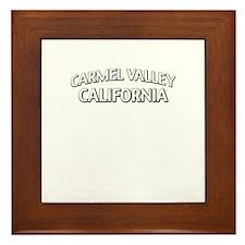 Carmel Valley California Framed Tile