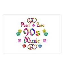 Peace Love 90s Music Postcards (Package of 8)