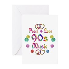 Peace Love 90s Music Greeting Cards (Pk of 10)