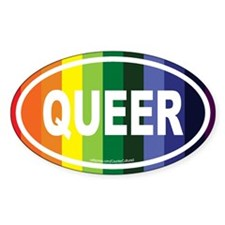 Queer Euros Oval Decal