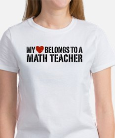 My Heart Math Teacher Women's T-Shirt