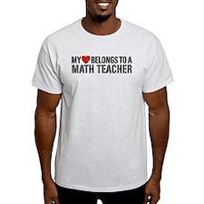 My Heart Math Teacher T-Shirt