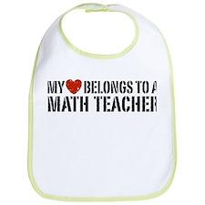 My Heart Math Teacher Bib