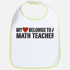 My Heart Math Teacher Bib