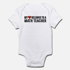 My Heart Math Teacher Infant Bodysuit
