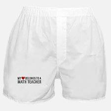 My Heart Math Teacher Boxer Shorts