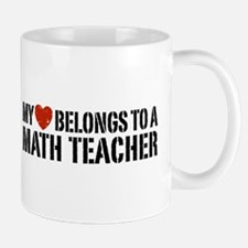 My Heart Math Teacher Mug