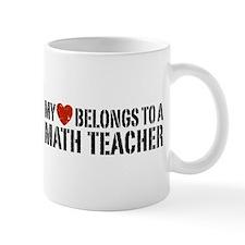 My Heart Math Teacher Mug