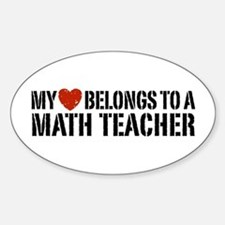 My Heart Math Teacher Decal