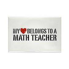 My Heart Math Teacher Rectangle Magnet