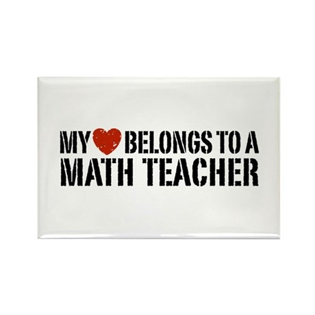 My Heart Math Teacher Rectangle Magnet