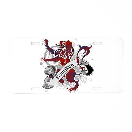 Hamilton Tartan Lion Aluminum License Plate