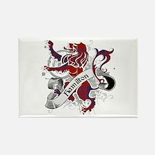 Hamilton Tartan Lion Rectangle Magnet