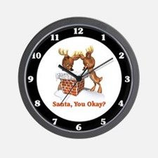 Funny Santa You Okay Wall Clock