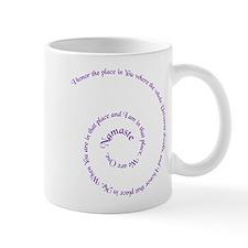 Namaste, greeting of honor. Mug