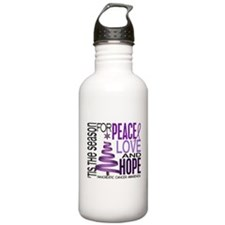 Christmas 1 Pancreatic Cancer Water Bottle