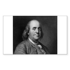 Ben Franklin: Portrait Decal