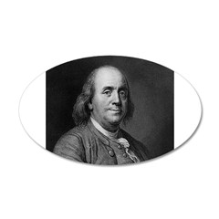 Ben Franklin: Portrait 22x14 Oval Wall Peel