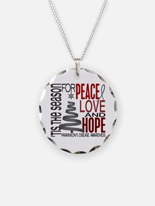 Christmas 1 Parkinson's Disease Necklace