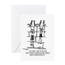 Who Needs Gravity Inversion Boots Greeting Card