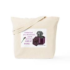 Cute Great dane christmas Tote Bag
