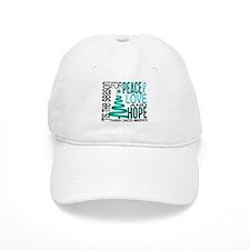 Christmas 1 Ovarian Cancer Baseball Cap