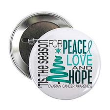 """Christmas 1 Ovarian Cancer 2.25"""" Button"""