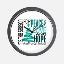 Christmas 1 Ovarian Cancer Wall Clock