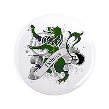 "Holmes Tartan Lion 3.5"" Button"