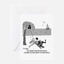Columbus Discovers Gravity Greeting Card